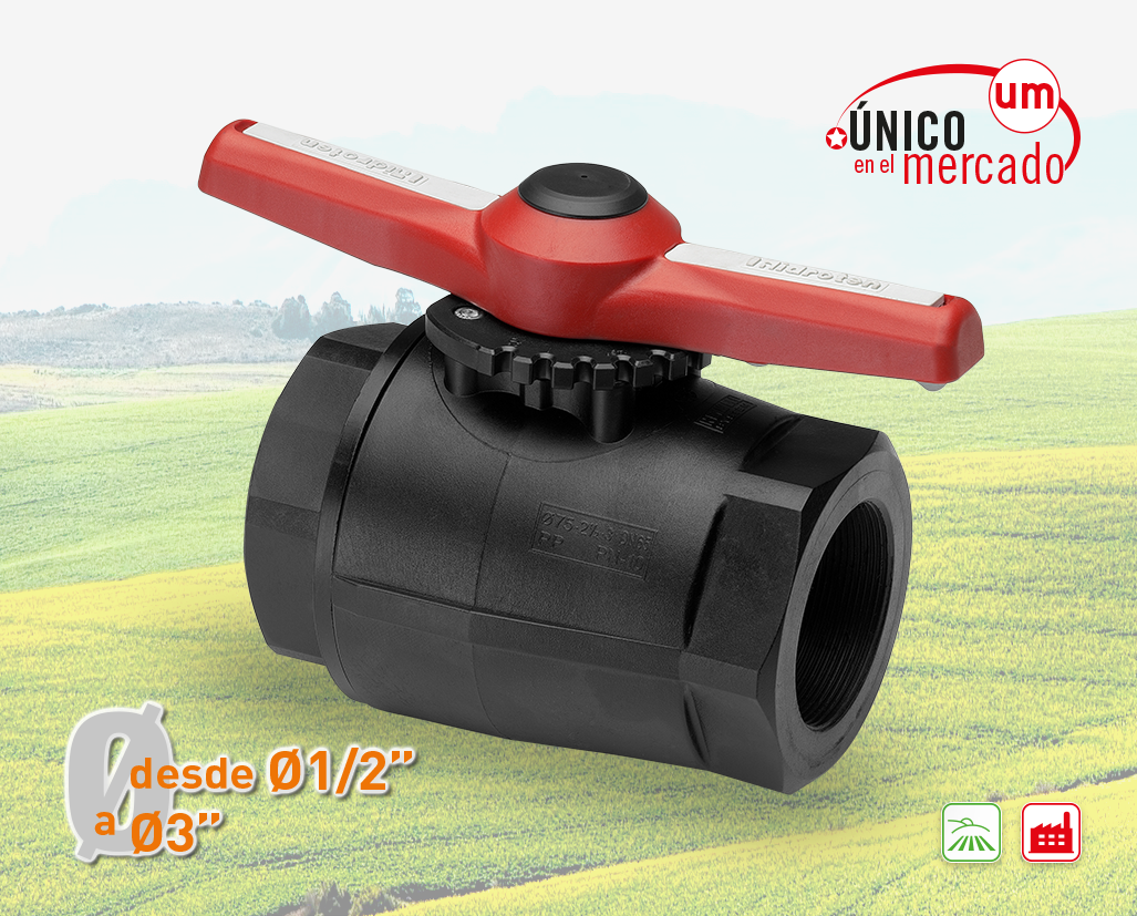 """COMPACT"" BALL VALVE, FEMALE THREAD OUTLET"