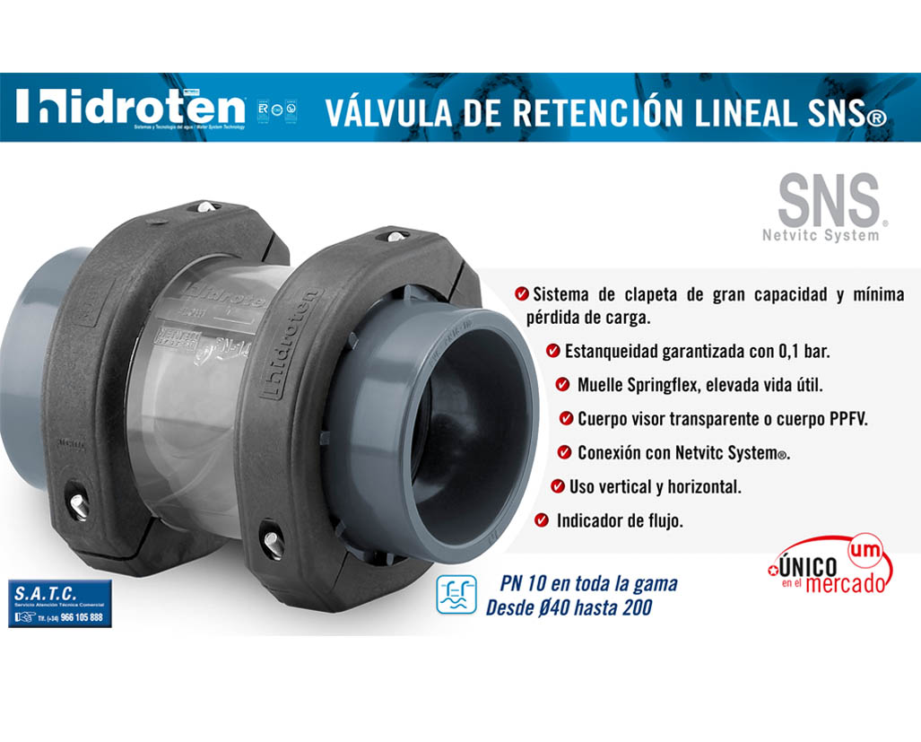 RETENTION VALVE SNS®