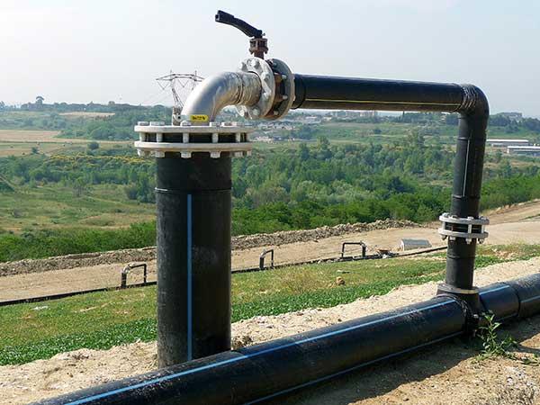 Instalación captación de biogás